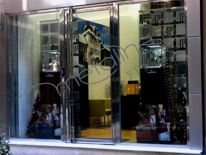 Inox πόρτα & inox κουφώματα πρόσοψης 2