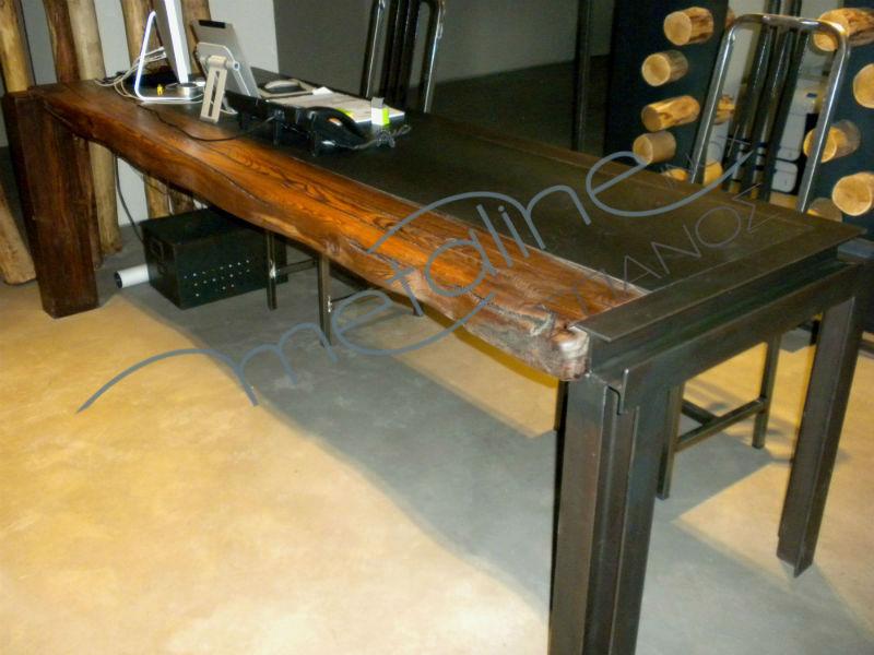 Τραπεζαρία σιδήρου με ξύλο